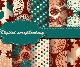 cloth patterns backgrounds Free vector