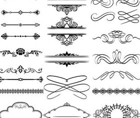Ornamental Borders Elements 16 vector