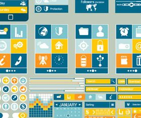Mobile UI Components 2 design vector