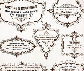 Ornamental Vintage Labels 4 set vector