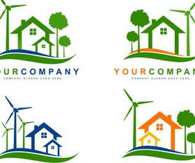 Eco House Logotypes vector