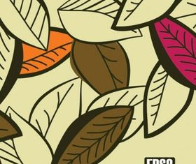 Colored leaves 1 design vector
