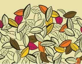 Colored leaves 2 vector