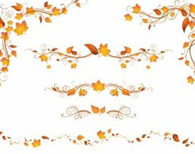 Autumn patterns Free vector