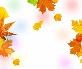 Painted Autumn Leaves Background Free vector graphics
