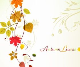 Autumn Swirl Background Free design vector