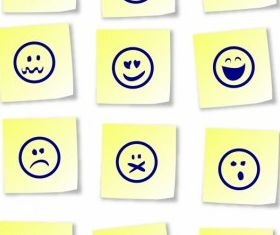 Smiley sticky notes Free vector design