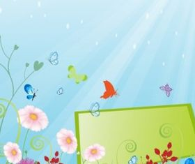 Summer meadow beautiful Free vector