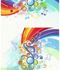 music pattern background 02 vector