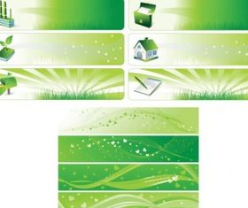 Environmental theme banner background vector design