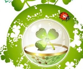 Clover beautiful background 05 creative vector