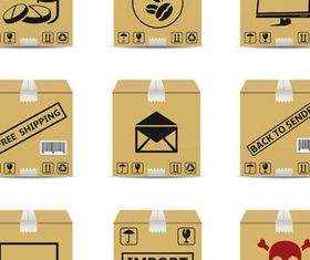 Delivery Different Boxes vectors