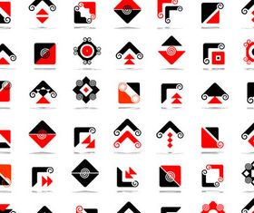 Abstract Arrow Logotypes vector