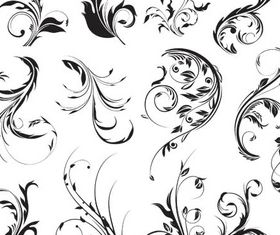 Floral Ornament Elements Mix 27 vector graphic