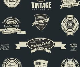 Vintage Labels Set vector graphics