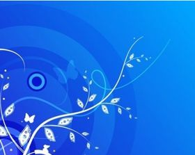Floral with Blue Background vector