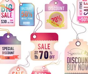 Sale Stickers free vector