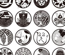 Japanese Ornaments vectors graphics