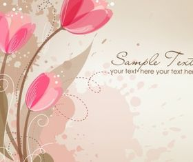 Romantic Flower Background Free vector design