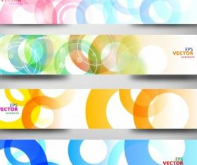 Abstract colorful web headers Free set vector