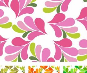 Green circle flower pattern Free vector design free download