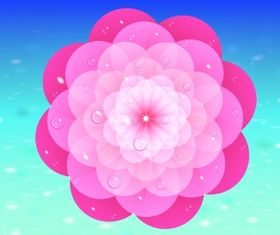 Pink flower design element Free vector