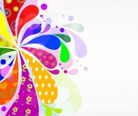 abstract flower Free vector graphics