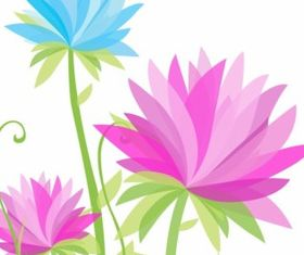 Vibrant Abstract Flowers Free vector
