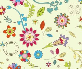 Abstract Flower Pattern Background Free shiny vector