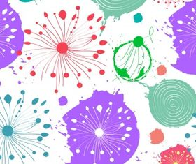 Abstract flower pattern Free 12 Illustration vector