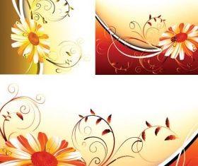 flower pattern background 3 vector