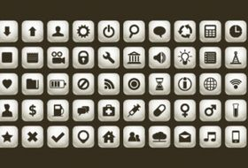 Simple icon set Free vector