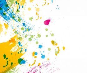 paint splashing vector