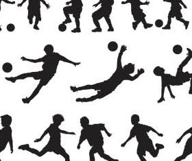 Football Players Silhouettes vector graphics