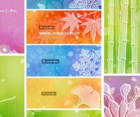 Color soft floral background 2 vector
