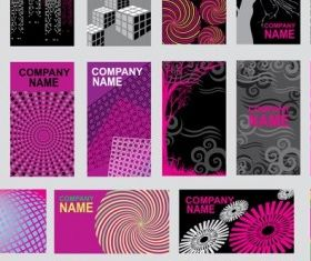 Purple abstract design card vector