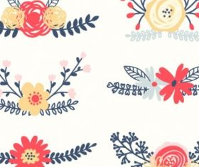 Floral elements Free vector design