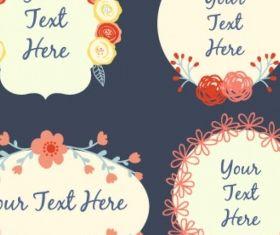 Floral frames Free vectors