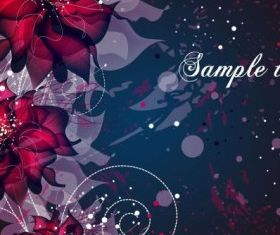 background floral fantasy 02 vector