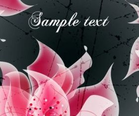 background floral fantasy 04 vector