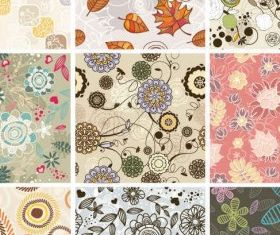 Seamless Floral Background Free vector