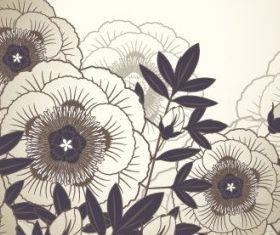 Elegant floral background 03 set vector