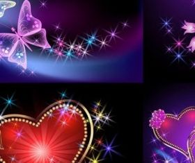 Light romantic background vectors
