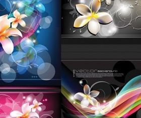flowers beautiful background vector