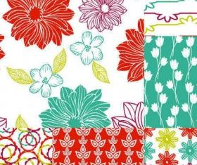 Hand-painted pattern background 09 vector set