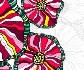 handpainted patterns background 02 vector