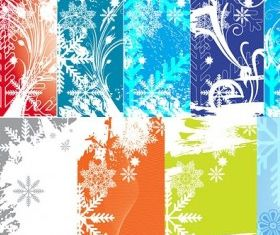 snowflake theme vector