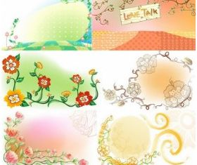 Fresh flowers handpainted background 03 vector