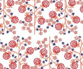 trees and flowers handpainted background vectors