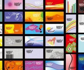 Card design template 2 vector